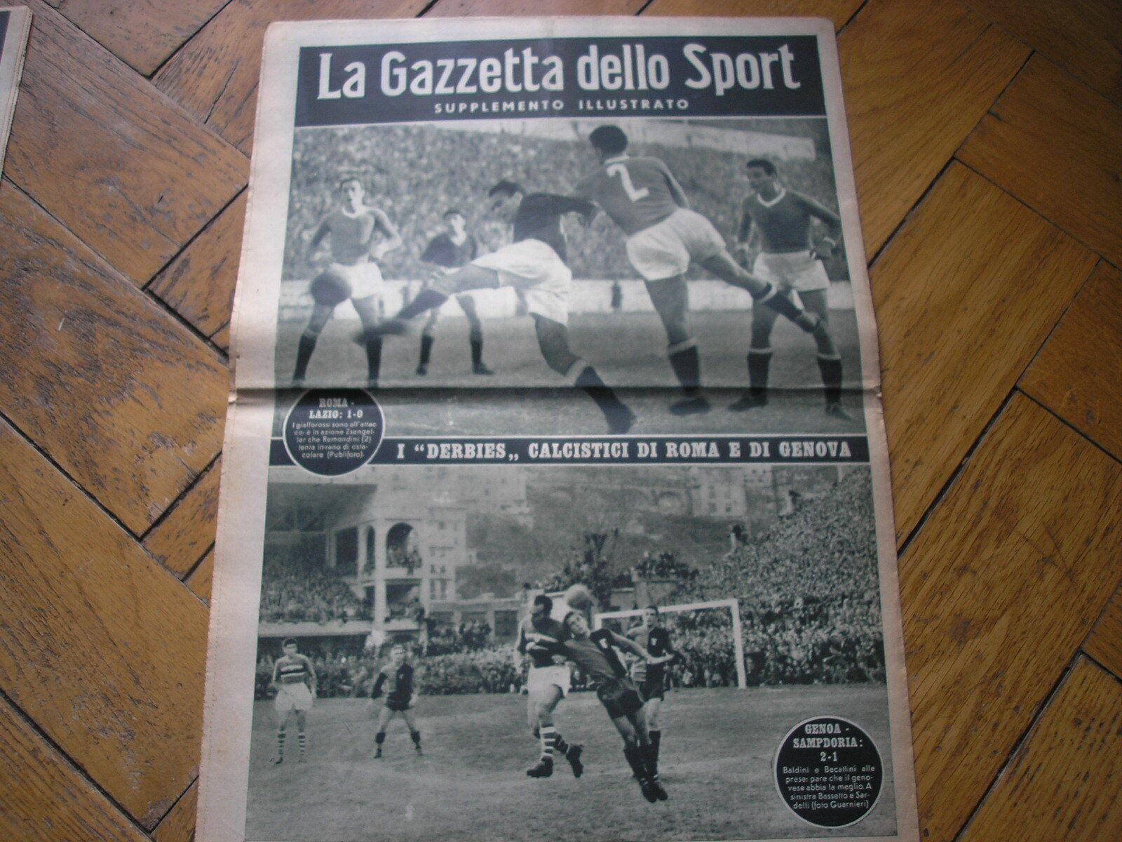 DERBY LAZIO ROMA GÉNOVA SAMPDORIA SAMPDORIA SAMPDORIA COVER GAZZETTA DELLO SPORT SUPLEMENTO 10 1947  mejor oferta
