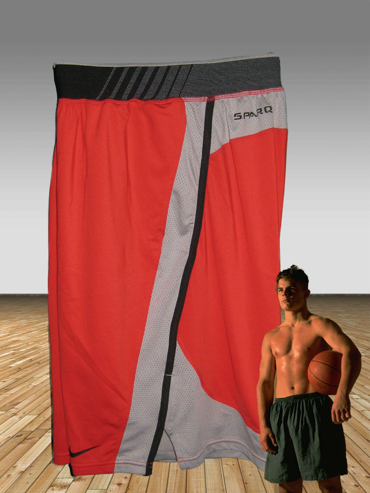 NEW NIKE Men's  SPARQ Elite Athletes Gym Fitness Basketball Shorts Red M  buy discounts