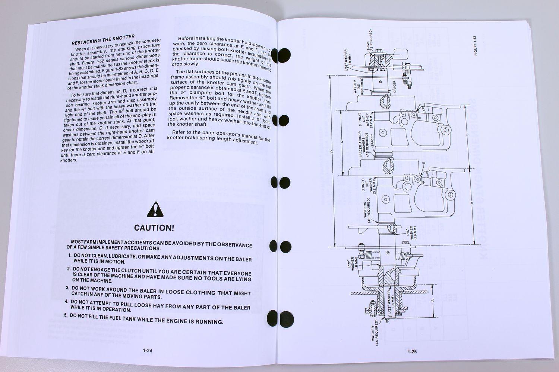 Holland 275 311 316 565 Square Baler Knotter Service Repair Shop Manual |  eBay