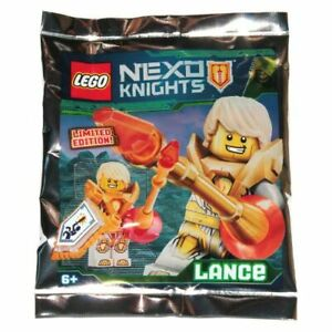 LEGO-NEXO-KNIGHTS-Lance-Gold-Minifigure-Foil-Pack-NEW-SEALED-LIMITED-EDITION