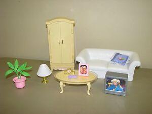 Image Is Loading Barbie Living Room Furniture White Sofa Coffee Table