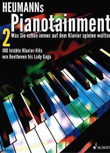 Klavier-Noten-Heumann-039-s-PIANOTAINMENT-Band-2-leichte-Mittelstufe-100-Hits
