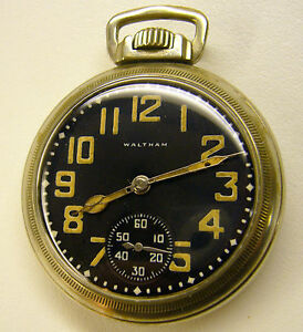 Very Rare 1941 Waltham Premier 16s 17j WW11 Military Pocket Watch as most are 9J