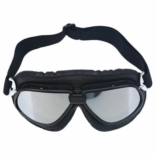Motorcycle Retro Vintage Goggles Flying Pilot Racing Riding Glasses Scooter ATV
