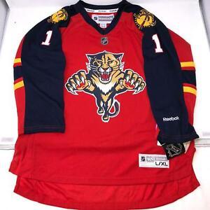 NHL-Reebok-Luongo-Florida-Panthers-Hockey-Red-Jersey-Kids-Youth-size-S-M