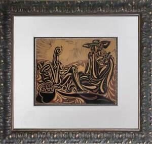 """Pablo Picasso LINOGRAVURE Ltd Edition -  """"Les Vendangeurs """" w/Frame"""