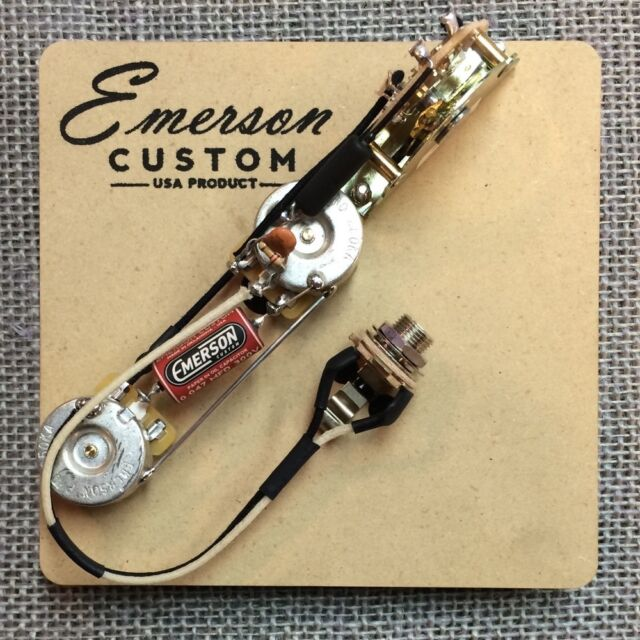 Emerson Custom Fender Esquire 3-way 250K Prewired AssemblyShips Worldwide Tele