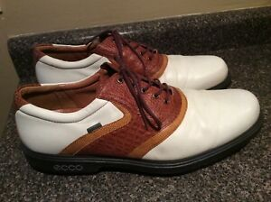 e30ce10fea9 ECCO Men s Classic Saddle Gore-Tex Golf Shoes Oxfords EU47 US 14 ...