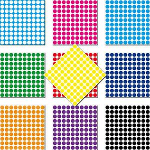 1000-Klebepunkte-3mm-selbstklebend-Punkt-Aufkleber-PVC-Folie-Etiketten-Inventur