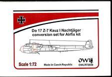 Owl Decals 1/72 DORNIER Do-17Z-7 KAUZ I NACHTJAGER Resin Conversion Set