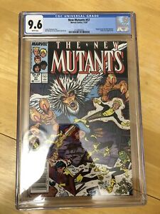 New Mutants #57 CGC 9.6 WP NM+ Marvel 1987 Magma Leaves Emma Frost Appearance