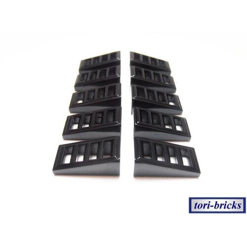 Gitter 2x1x2//3 schwarz 10 Stück »NEU« # 61409 Lego Dachstein Slope 18