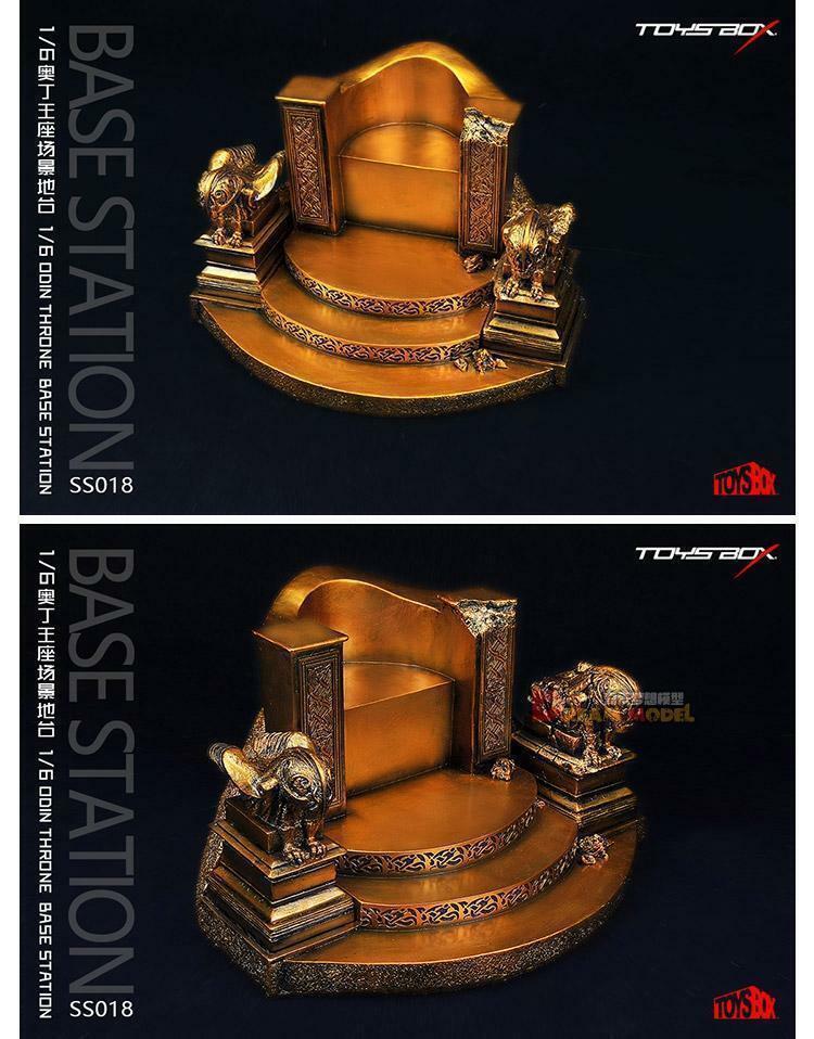 1 6 Escala Modelo SS018 Odin trono silla Juguetes Juguetes de accesorios de base de modelo de resina de caja
