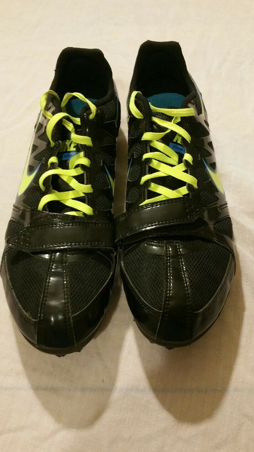 nike mens black  zoom rival s running cleats Price reduction  Seasonal clearance sale