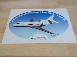 Autocollant-DASSAULT-AVIATION-FALCON-900-SALON-DU-BOURGET-1995