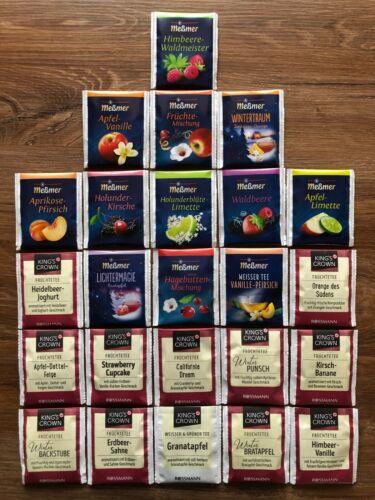 24 Sorten bunt gemischt Geschenk Probierset TEE Markentee Früchtee uvm NEU!