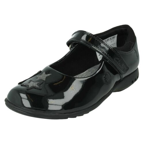 CLARKS Trixi Bee Girls Infant Formel Mary Jane École Chaussures Riptape Star Lights