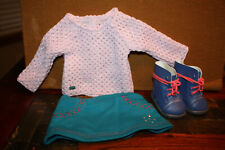 """American Girl TRULY ME SPARKLE SWEATER OUTFIT for 18/"""" Dolls Skirt Boots NEW"""