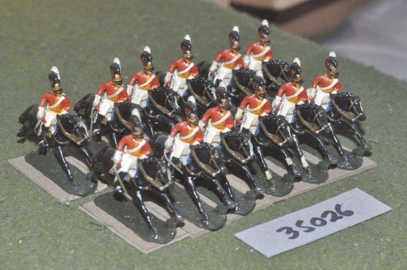 25mm napoleonic   british - household 12 figures - cav (35026)