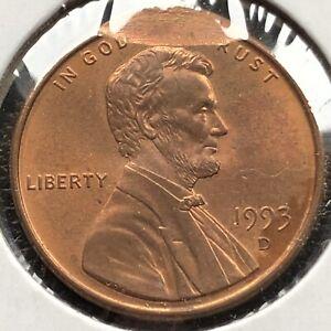 1993 D Lincoln Cent 1c Bouble STRUCK ERROR #23710 | eBay