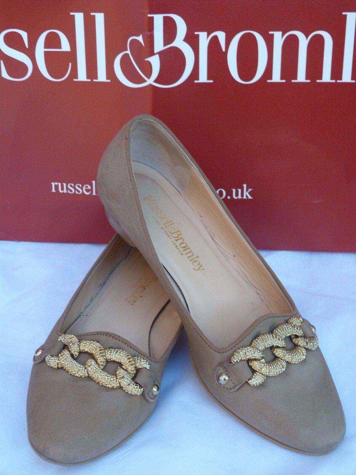 RussellBromley Damens's schuhe Größe 4.5/37.5/taupe/chain/sapatos//женская обув