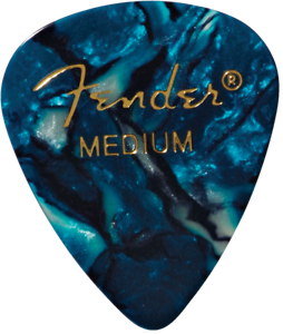 198-0351-802 BLUE MOTO Medium 12 NEW Fender 351 Premium Celluloid Picks