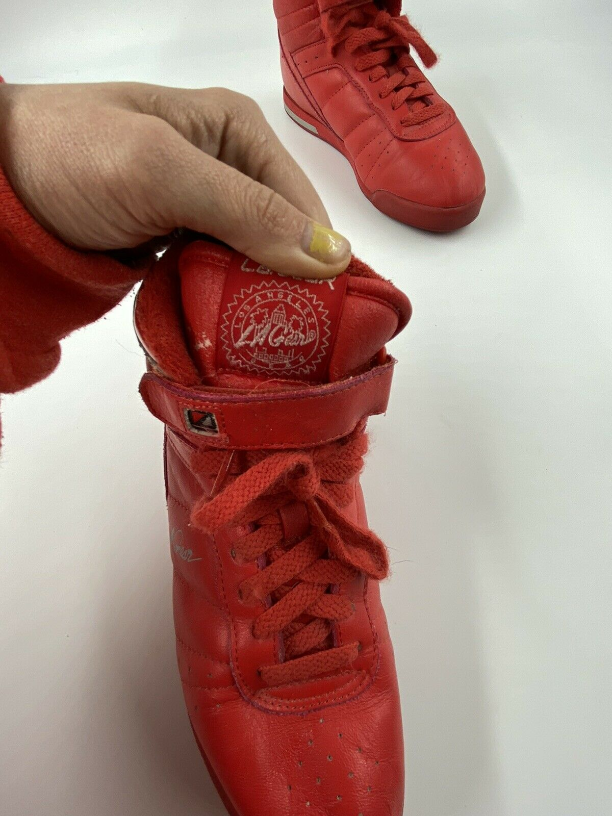 L.A. Gear 6.5 Vintage 80s Red Sneakers 90s Tennis… - image 4