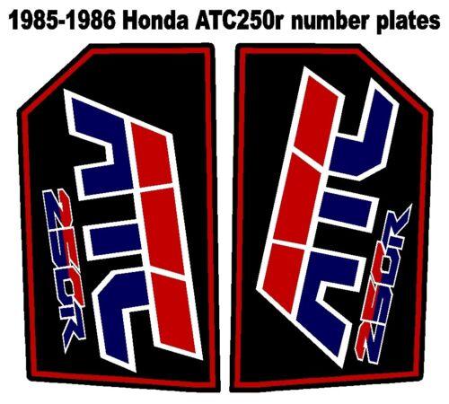 Rear fender decals for 1985 or 1986 Honda ATC 250r 3-wheelers   ATC250r ATC 250r
