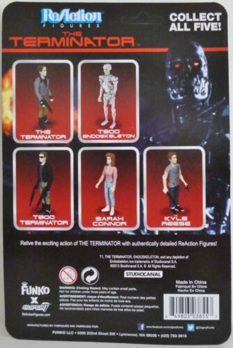 "T-800 TERMINATOR LEATHER JACKET The Terminator 3 3//4/"" Reaction Retro Figure 2014"