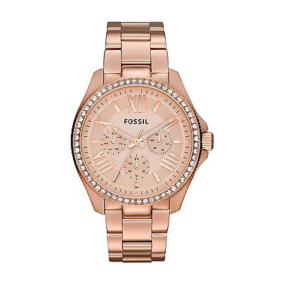 Fossil Women's AM4483 Cecile Multifunction Stainless Steel Watch Rose Gold-Tone