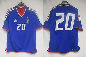 Maillot-Equipe-de-FRANCE-Adidas-porte-n-20-feminine-match-worn-shirt-vintage-L