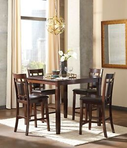 Details about Ashley Furniture Bennox 5 Piece Counter Height Dining Room Set