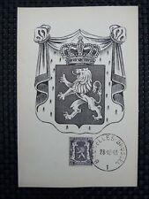BELGIEN MK 1945 WAPPENLÖWE 1936 MAXIMUMKARTE CARTE MAXIMUM CARD MC CM a6654