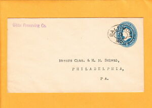 BALTIMORE-Gibbs-Preserving-Co-Large-Oval-Racetrack-9-Postmark-PSE-Cover-c1898-H