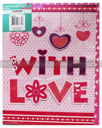 MOMENTUM BRANDS* Handcrafted JUMBO CARDS w//Envelope VALENTINES DAY *YOU CHOOSE*