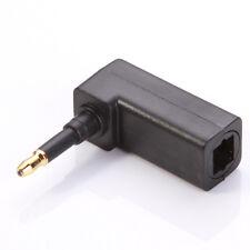 Toslink Digital Optical Female to 3.5mm Mini Plug 90° Right Angle Audio Adapter