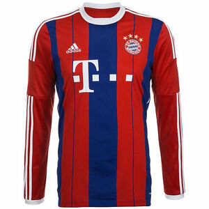 buy online 864bf 08693 Details about ADIDAS BAYERN MUNICH LONG SLEEVE HOME JERSEY 2014/15.