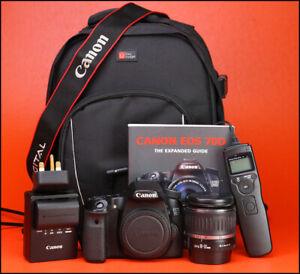 Canon-EOS-70D-DSLR-Camera-18-55-mm-zoom-lens-kit-sac-batterie-Chargeur-a-distance