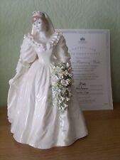 COALPORT FIGURE DIANA PRINCESS OF WALES WEDDING DAY LTD EDITION WITH C.O.A.