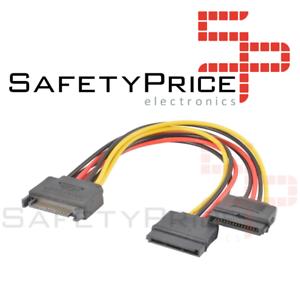 Cable-Divisor-Splitter-Alimentacion-SATA-15PIN-macho-doble-2x-Hembra-20CM-R1962