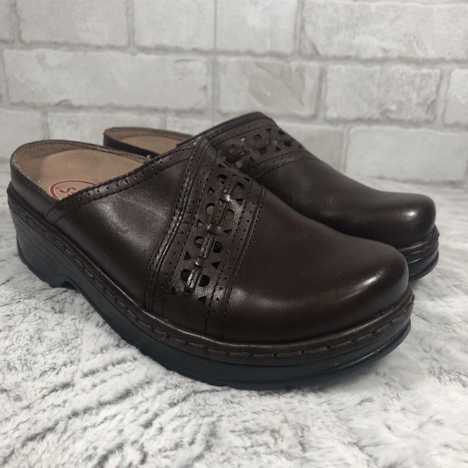 NWOT B Klogs BROWN Perforated Leather Slip Resistant Mules Men's Men's Men's 9 Women's 7 79f870