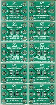 "3 Stück Adapterplatine DFN6-1.2x1.0 0.40mm auf DIP6 0.3/"" Sockel. DE"