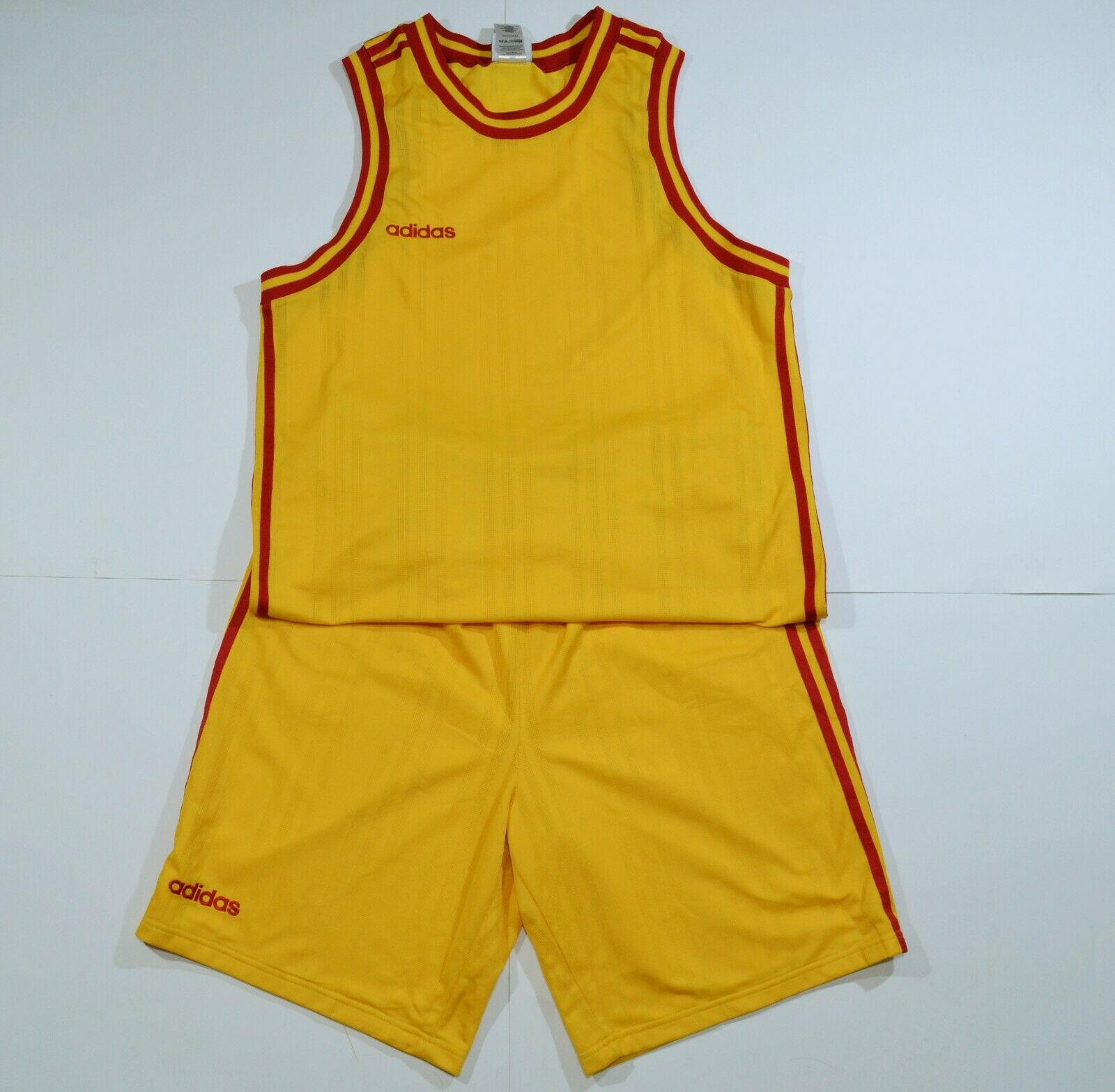 Adidas vintage basketball uniform jersey and shorts made in UK