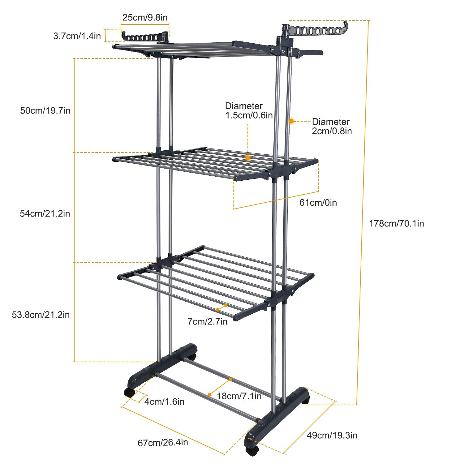 laundry room hanging rack