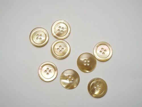 8pc 20mm BISCOTTI CREMA Finte Shell Camicetta Vestito Camicia Cardigan Bottoni 4 FORI 1163