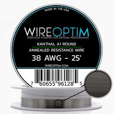 38 Gauge Awg Kanthal A1 Wire 25 Length Ka1 Wire 38g Ga 010 Mm 25 Ft