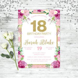 FLORAL-18TH-BIRTHDAY-INVITATIONS-PURPLE-PINK-GOLD-CONFETTI-EIGHTEEN-INVITE