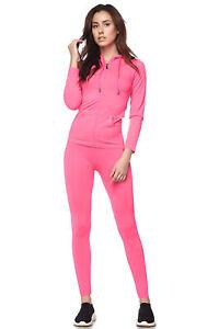 Women-039-s-Juniors-Active-Set-Wear-Zip-Up-Hoodie-and-Legging
