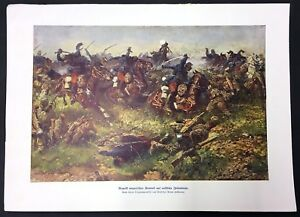 Attack-Hungarian-Honved-on-Russian-Infantry-WK1-Art-Print-W-4136