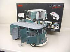 1:18 Schuco VW T1 Bulli Kasten Van blau-grün Blue-green Schuco Exclusiv NEU NEW